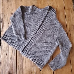 Anthropologie Wooden Ships Gray Open Knit Cardigan